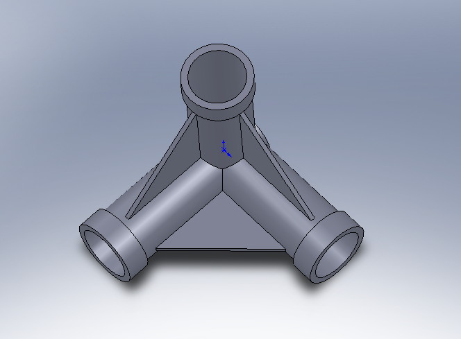 solidworks2010画的练习图-三通